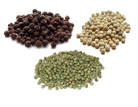Black / White / Green Peppercorn